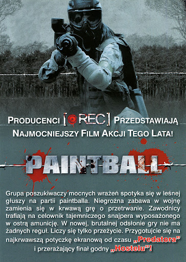 Tył ulotki filmu 'Paintball'