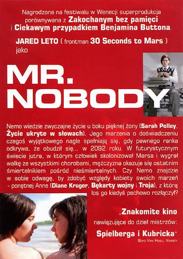 Tył ulotki filmu 'Mr. Nobody'