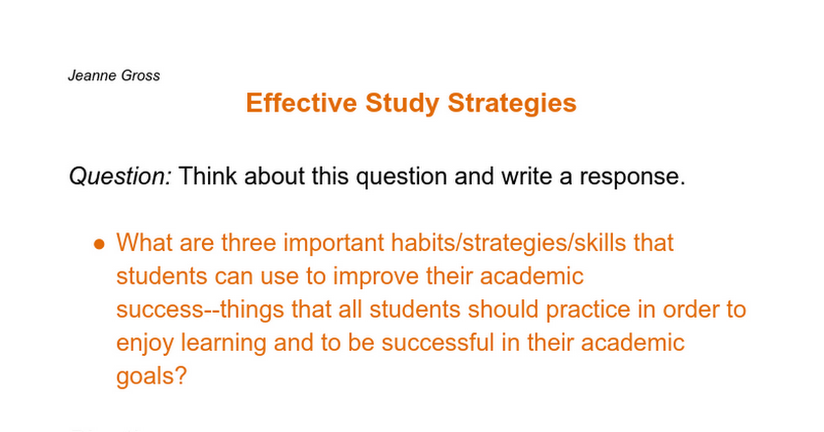 study strategies for learning essay Exam preparation: strategies for essay exams  between themes, ideas and patterns that recur through the course see the guide listening & note-taking and learning & studying for information on concept mapping  find sample questions in the textbook or on previous exams, study guides, or online sources.