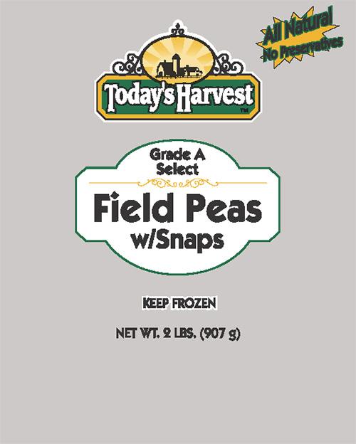 Today's Harvest Field Peas w Snaps, 2 LBS