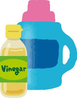 漂白水、醋