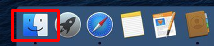 "Open the ""Finder"" on your Mac"