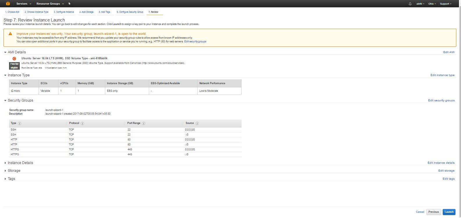 Create Virtual Machine on Amazon Web Services ( AWS ) 40