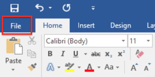 File menu