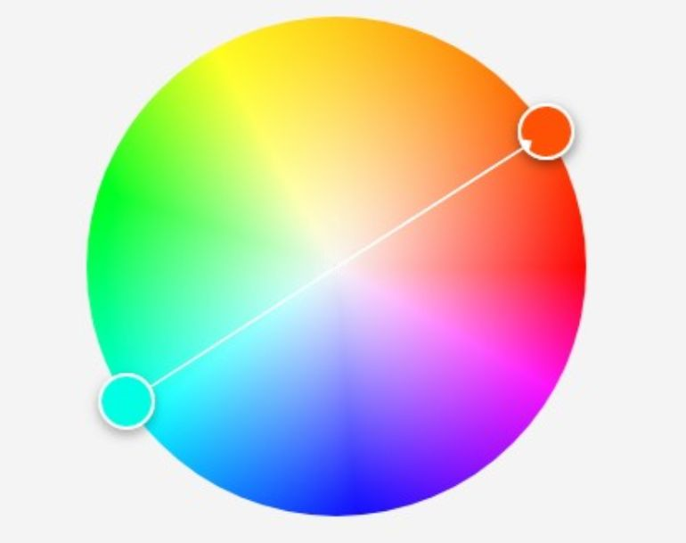 Color wheel with complementary colors - Colors in photography