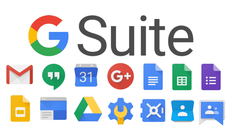 Logos of G Suite apps