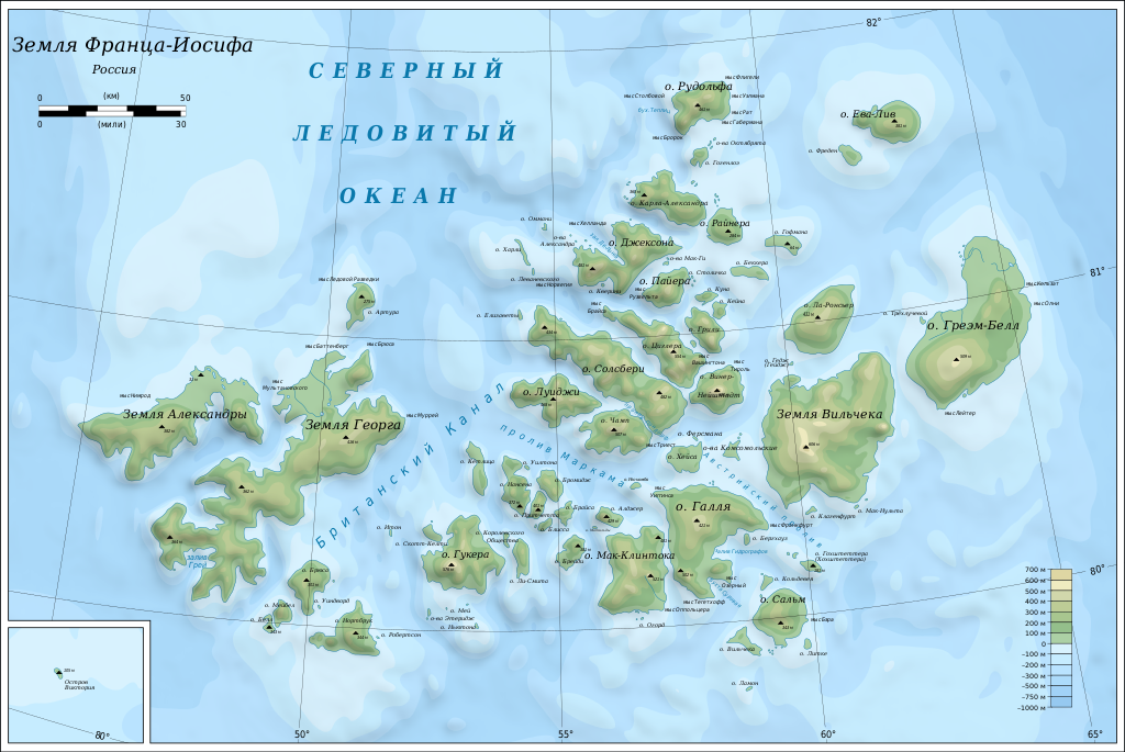Map of Franz Josef Land-ru.svg