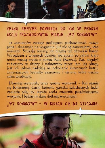 Tył ulotki filmu '47 Roninów'