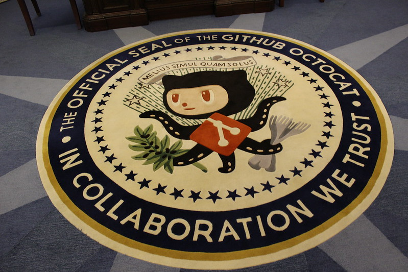 GitHub Octocat at GitHub's Oval Office