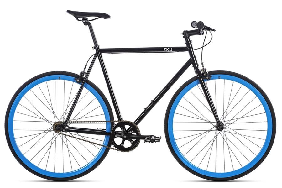 6KU Shelby Singlespeed/Fixie-Bike in schwarz und blau