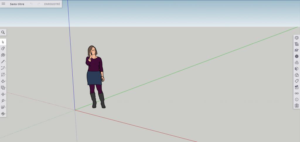Interface web du logiciel sketchup gratuit
