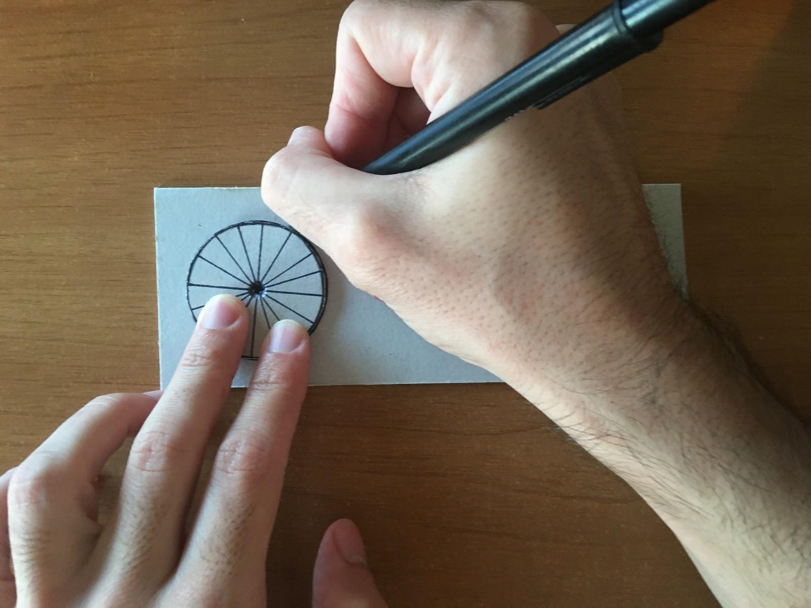 Marcado del resto de las circunferencias a partir de la primera recortada.