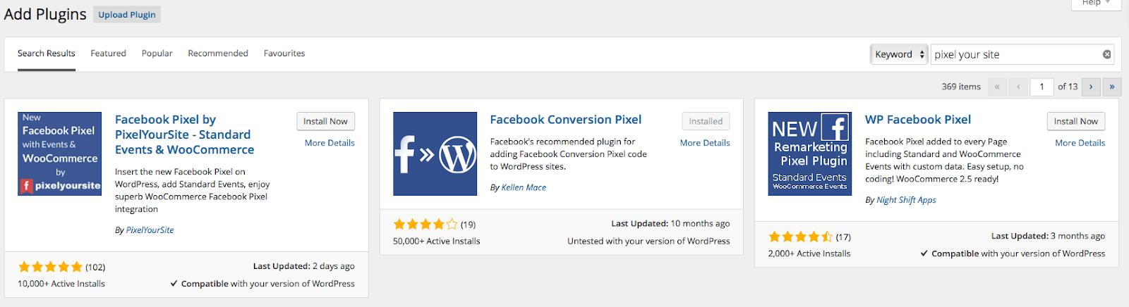 Pixel your site plugin