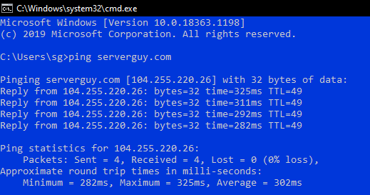 Test Network Latency With Ping
