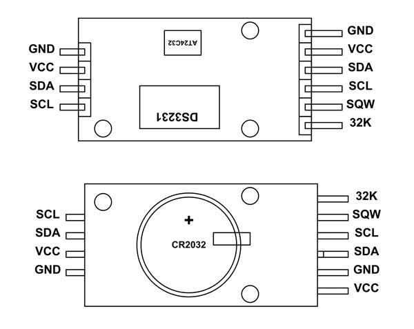 DS3231 RTC 引脚配置