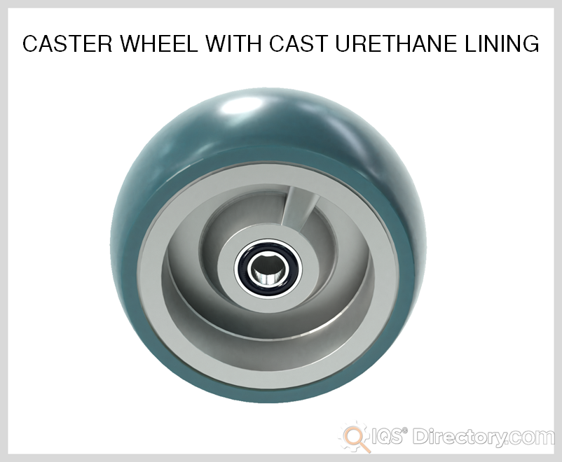 Caster Wheel with Cast Urethane Lining