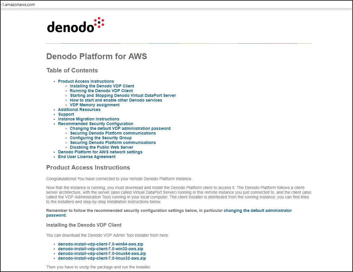 Denodo Platform for AWS 7 0 - Quick Start Guide