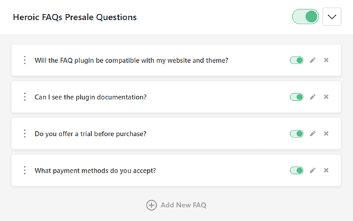 Drag and drop interface in WordPress question and answer plugin