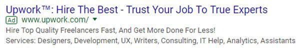 Upwork Google ads