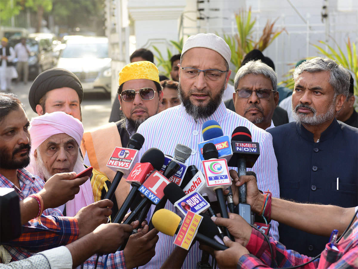 Asaduddin Owaisi visits Uttar Pradesh, focuses on Azamgarh - The Economic  Times