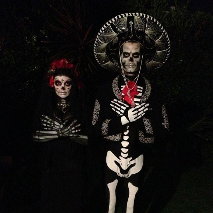 Josh Duhamel And Fergie Are Spooky As A Day Of The Dead Couple