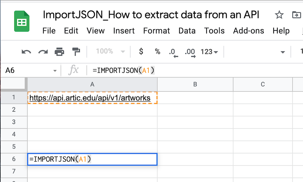 Extract data from an API easily with ImportJSON