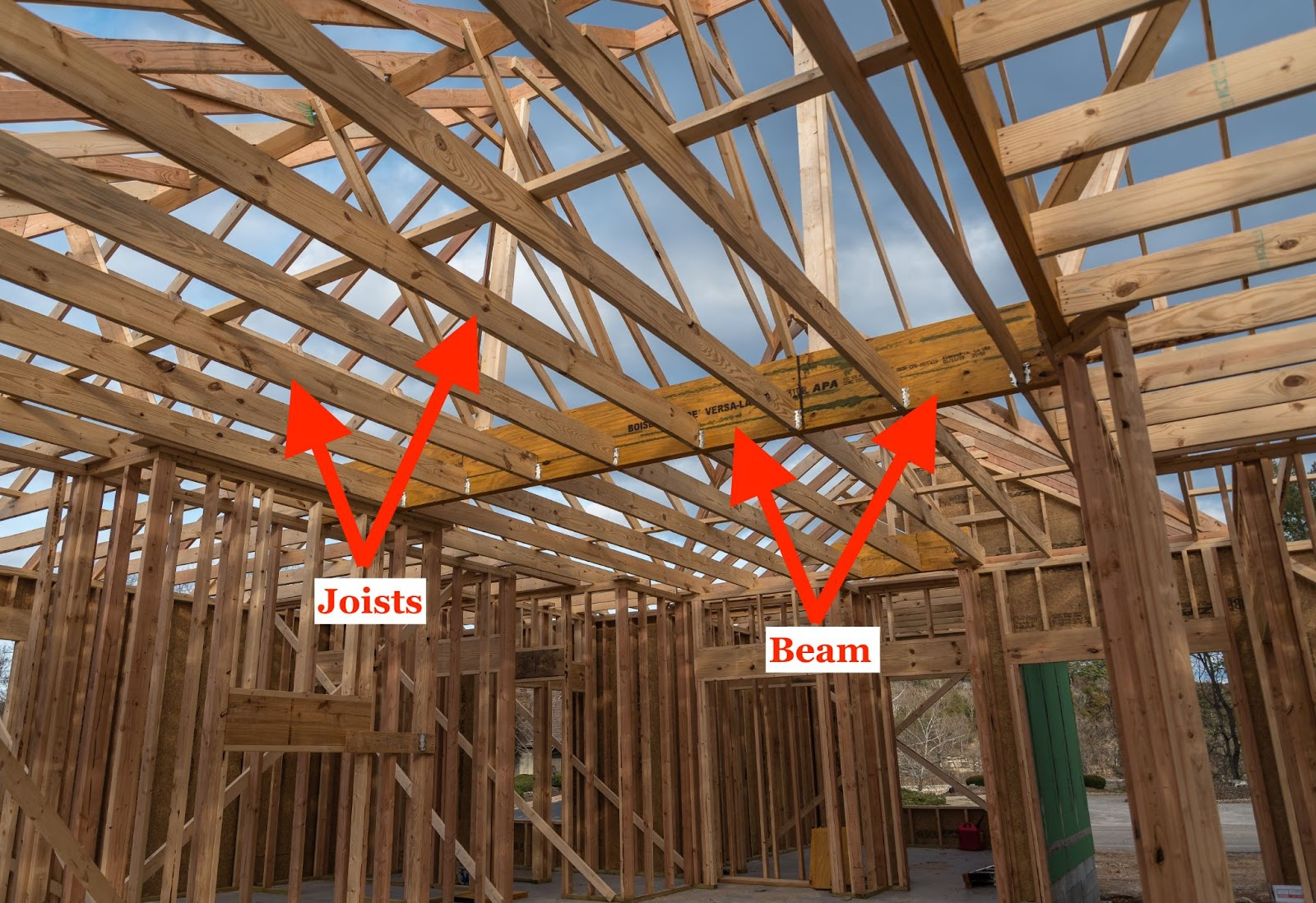 structural engineering evaluation with beam and joists
