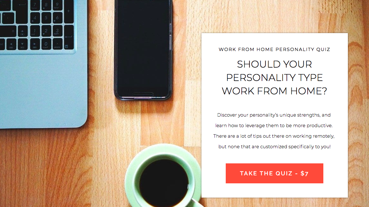 should your personality type work from home quiz cover