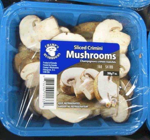 Champ's Mushrooms - Sliced Crimini Mushrooms - 200 gram