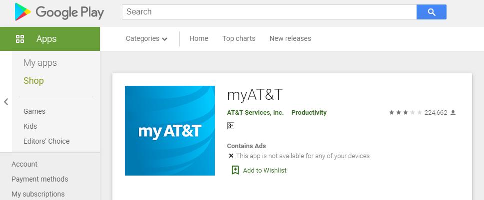 Google Play myAT&T
