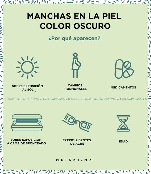 MANCHAS EN LA PIEL COLOR OSCURO
