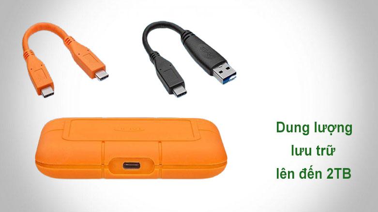 Ổ cứng gắn ngoài SSD LaCie Rugged Thunderbolt 3 2TB USB-C | Dung lượng lưu trữ 2TB