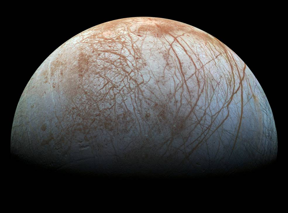 Europa, the smallest of the four Galilean moons