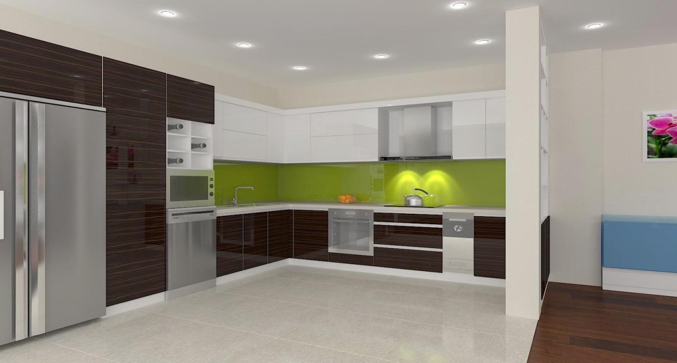 Sử dụng tủ bếp inox acrylic vừa tiện lợi vừa thẩm mỹ