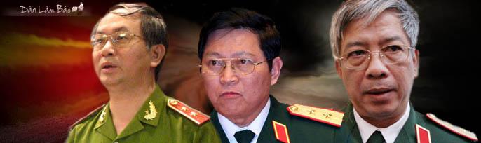 Chiếu chỉ: thăng hàm cho các Thái đồng chí Nguyễn Chí Vịnh, Ngô Xuân Lịch, Trần Đại Quang từ Thái trung tướng lên Thái thượng tướng.