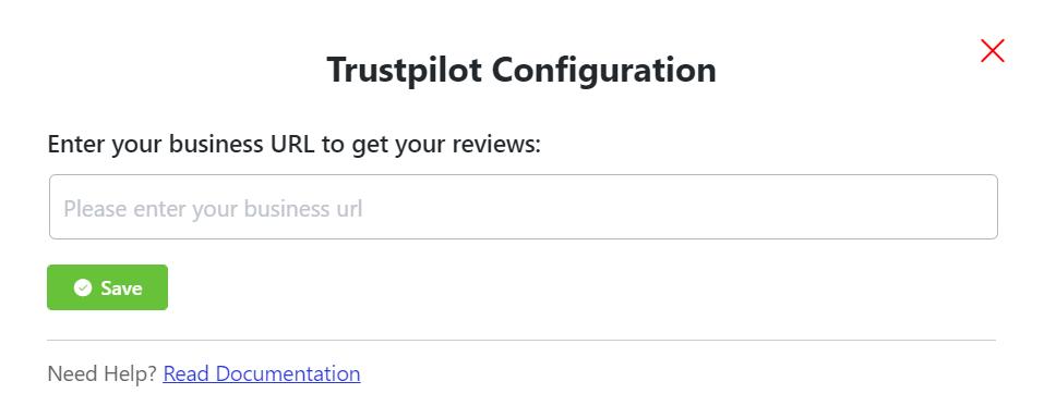 Trustpilot reviews configuration