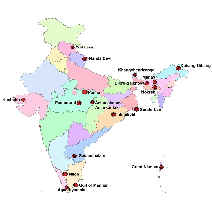 Complete List of Biosphere Reserves in India - NCERT Notes - Military Choice - AFCAT CDS NDA & SSB Interview Material
