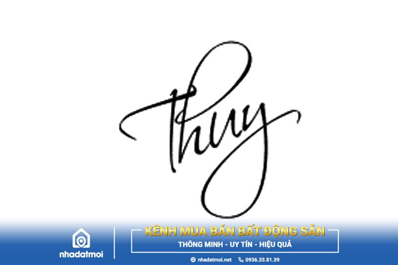 mẫu chữ ký cho người mệnh thủy