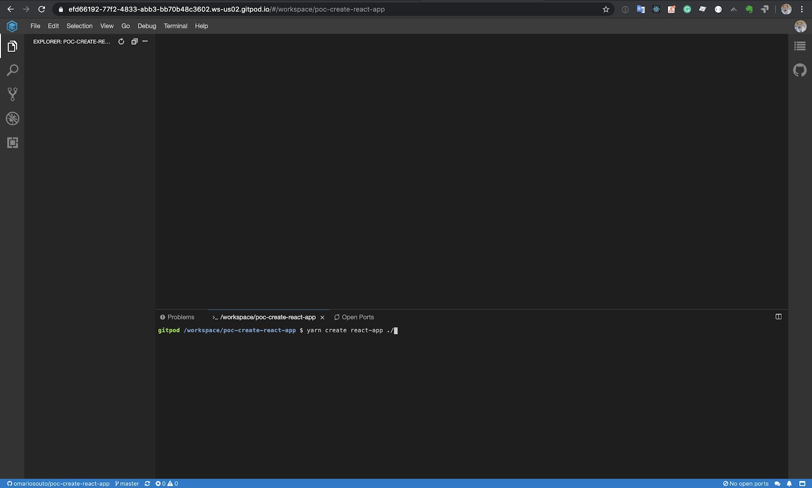 Editor do Gitpod