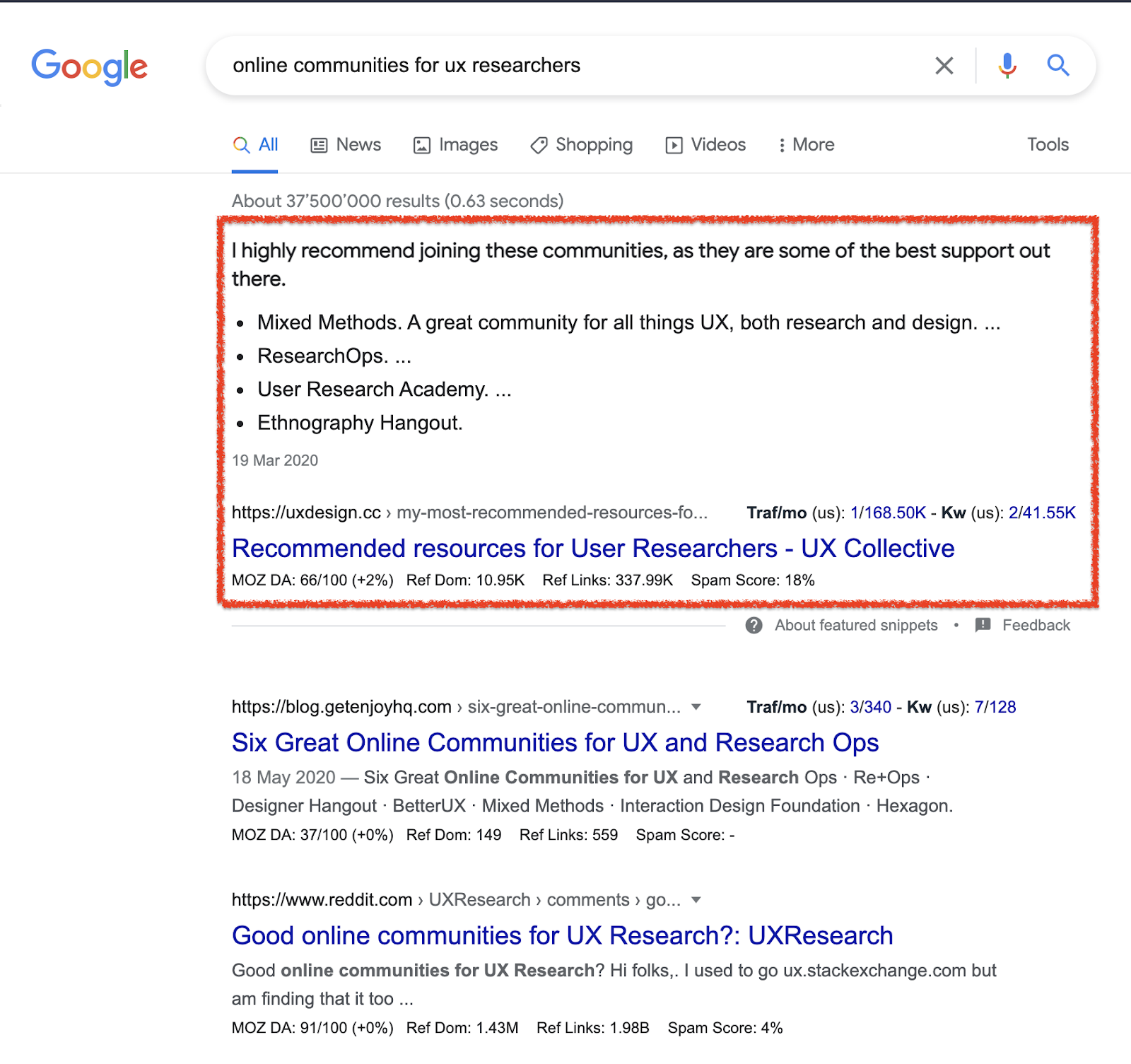 online research is a great UX research technique