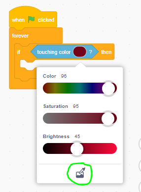 colour slider being used in scratch block code