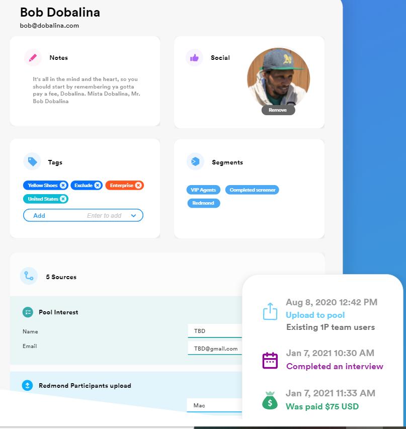 Ethnio is a participant management platform