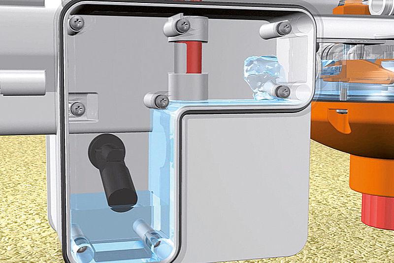 Broilerių girdymo sistema