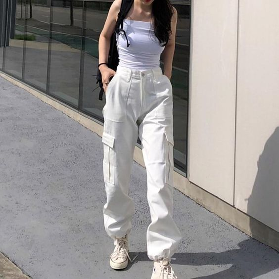 girl in a streetwear outfit