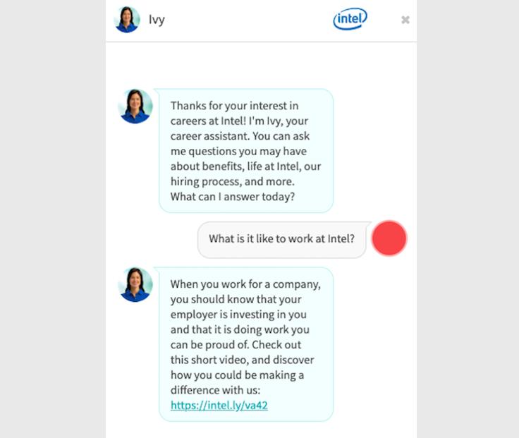 chiến lược tuyển dụng chatbot intel