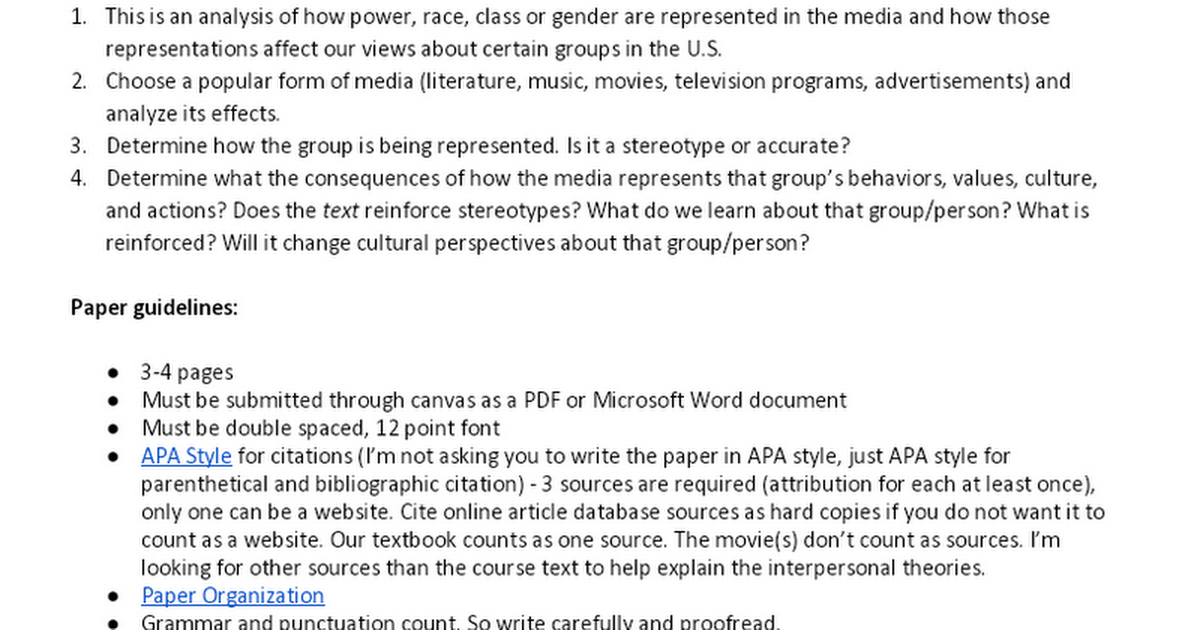 group paper analysis the effects of Article analysis assignment due dates  when you later decide to use the material in a term paper or, worse  stage effects for research on.