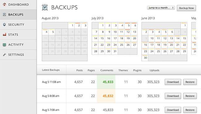 VaultPress-backups