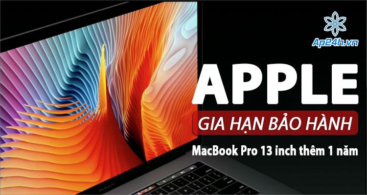 Bảo hành lỗi đèn nền màn hình MacBook Pro 13 inch được tăng thêm 1 năm