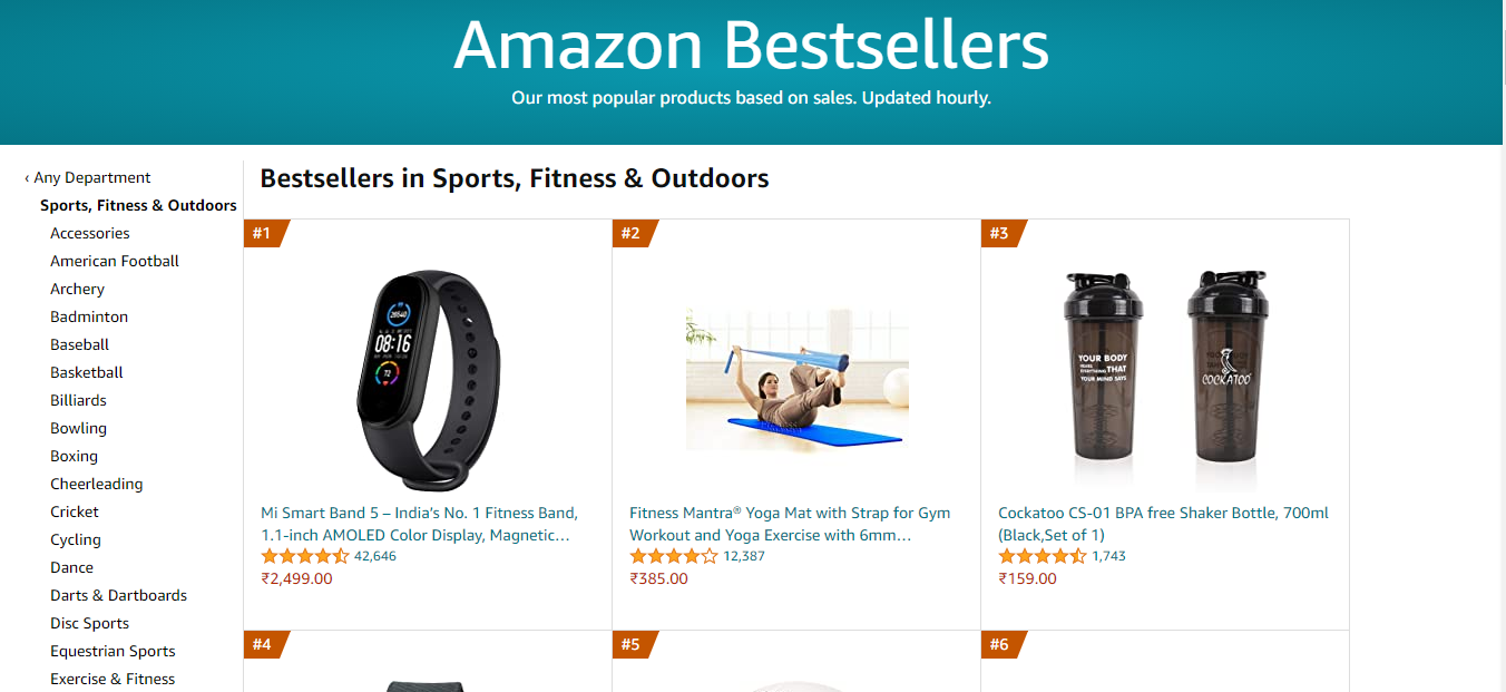 amazon bestsellers product images