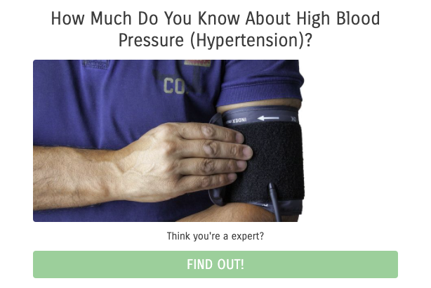 How much do you know about high blood pressure quiz cover
